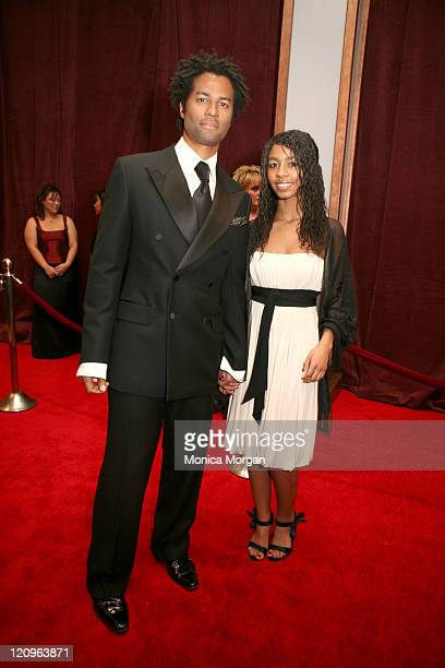 Eric Benet and daughter India during 2007 Trumpet Awards Red Carpet at The Bellagio Hotel in Las Vegas Nevada United States