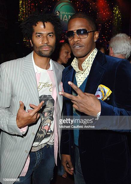 Eric Benet and Jamie Foxx during The Recording Academy and Entertainment Industry Foundation Hosts the Second Annual GRAMMY Jam Presented by Mercedes...