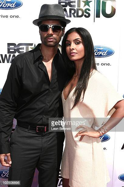 Eric Benet and Manuela Testolini arrives at the 2010 BET Awards held at The Shrine Auditorium on June 27 2010 in Los Angeles California