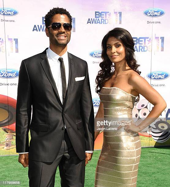 Eric Benet and Manuela Testolini attend the 2011 BET Awards at The Shrine Auditorium on June 26 2011 in Los Angeles California