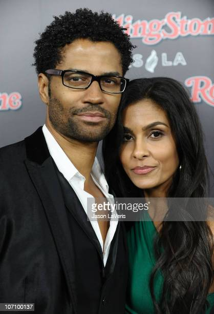 Eric Benet and Manuela Testolini attend the Rolling Stone after party for the 2010 American Music Awards at Rolling Stone Restaurant Lounge on...