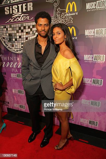 Eric Benet and Manuela Testolini attend the Sister2Sister 22nd Annual Anniversary party at Justin's on November 9 2010 in Atlanta Georgia