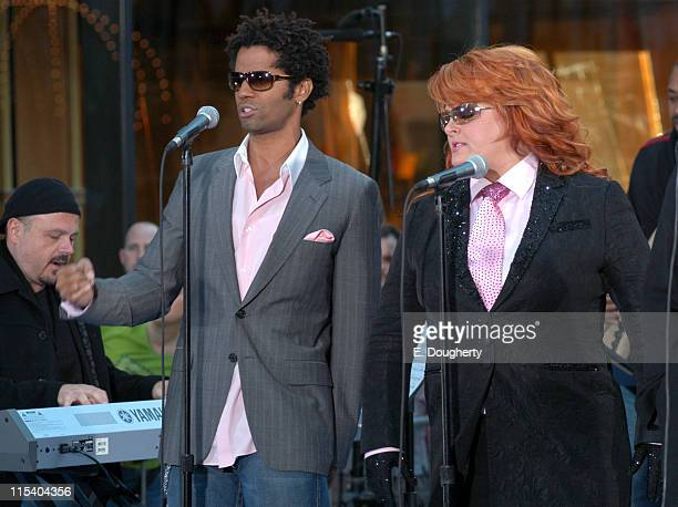 Eric Benet and Wynonna Judd during Wynonna Judd Michael McDonald and Eric Benet Perform on NBC's The Today Show October 19 2005 at Rockefeller Center...