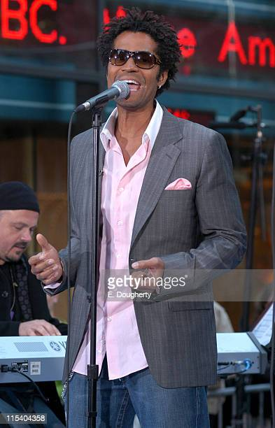 Eric Benet during Wynonna Judd Michael McDonald and Eric Benet Perform on NBC's The Today Show October 19 2005 at Rockefeller Center in New York City...