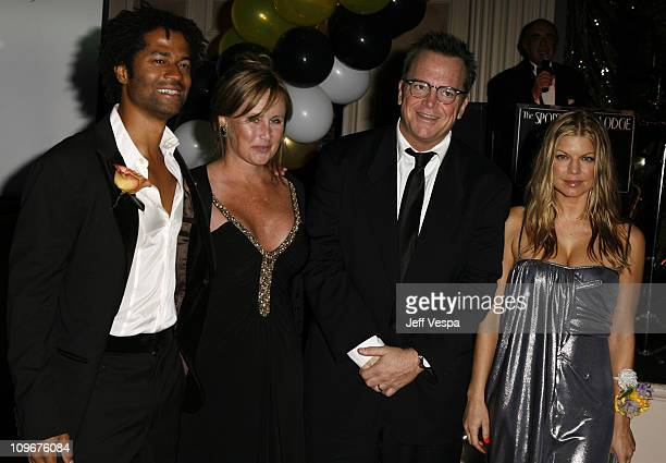 Eric Benet Kelly Stone Tom Arnold and Fergie during Sharon Stone and Kelly Stone Host the 1st Annual 'Class of Hope Prom 2007' Charity Benefit Red...