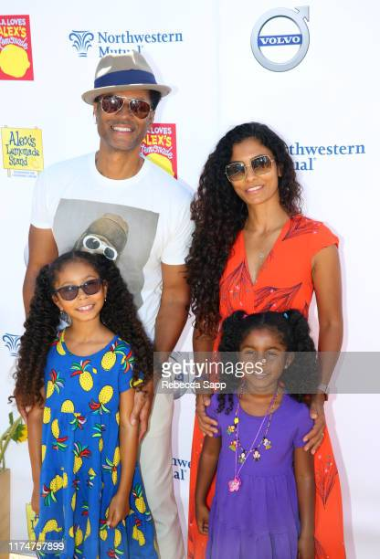 Eric Benet Manuela Testolini Lucia Bella Benet and Amoura Luna Benet attend 10th Annual LA Loves Alex's Lemonade at UCLA Royce Quad on September 14...