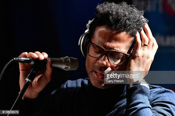 Eric Benet performs on SiruisXM's Heart and Soul hosted by Cayman Kelly at SiriusXM Studio on October 10 2016 in Washington DC