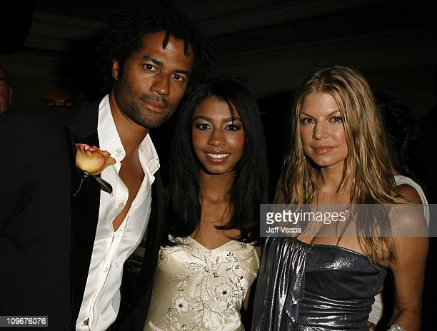 Eric Benet with his daughter India and Fergie during Sharon Stone and Kelly Stone Host the 1st Annual 'Class of Hope Prom 2007' Charity Benefit Red...