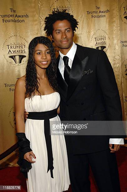 Eric Benet with his daughter India during 2007 Trumpet Awards Red Carpet at The Bellagio Hotel in Las Vegas Nevada United States