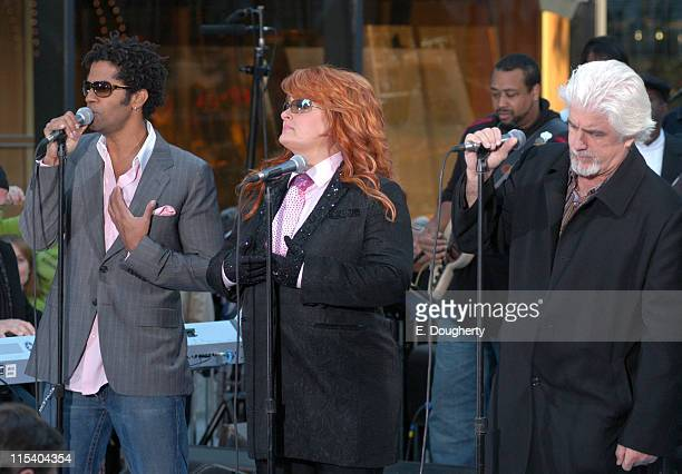 Eric Benet Wynonna Judd and Michael McDonnald during Wynonna Judd Michael McDonald and Eric Benet Perform on NBC's The Today Show October 19 2005 at...