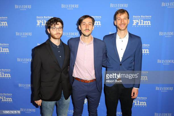 Eric Berger Tyler Taormina and Kevin Anton of 'Ham on Rye' attend the Cinema Vanguard Award Presented by Belvedere Vodka Honoring Michael B Jordan...