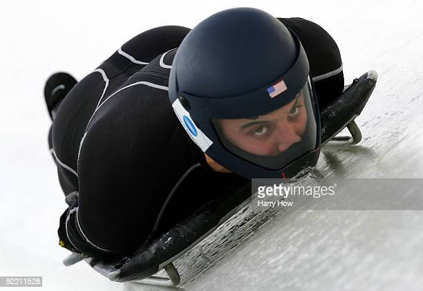 Eric Bernotas of USA during FIBT 2005 Skeleton Men World Championships at Canada Olympic Park on February 17, 2005 in Calgary, Alberta, Canada.