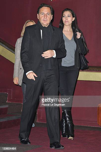 Eric Besson and wife Yasmine attend 'Carnage Paris premiere at Cinema Gaumont Marignan on November 20 2011 in Paris France