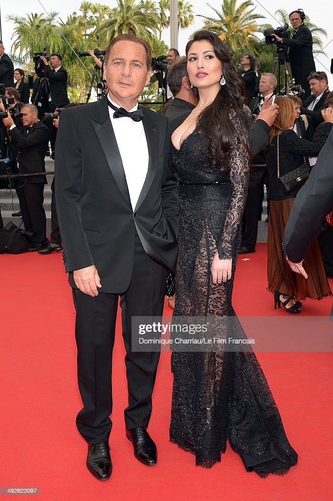 Eric Besson and Yasmine Tordjam attend 'The Search' Premiere at the 67th Annual Cannes Film Festival on May 21, 2014 in Cannes, France.