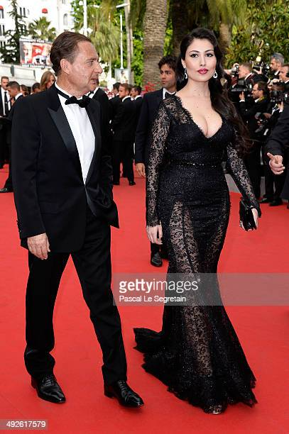 Eric Besson and Yasmine Tordjman attend 'The Search' premiere during the 67th Annual Cannes Film Festival on May 21 2014 in Cannes France