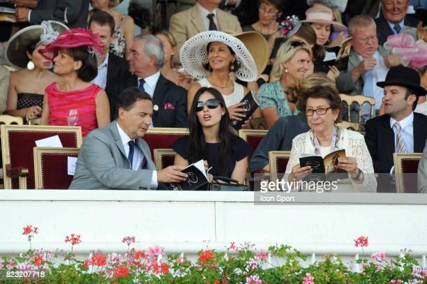 Eric BESSON et Yasmine BESSON TORDJMAN Qatar Prix de l Arc de Triomphe 2011 Hippodrome de Longchamp