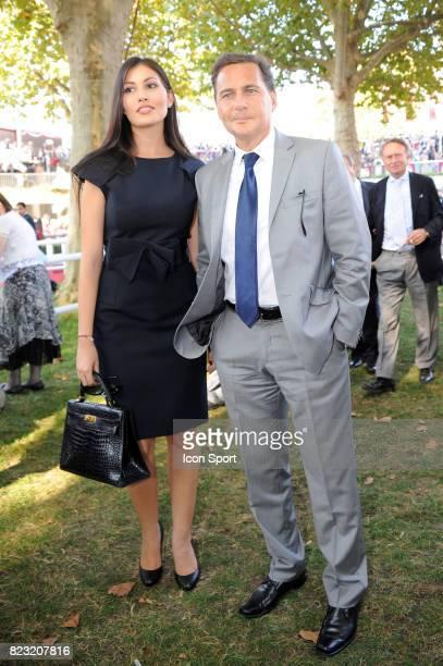 Eric BESSON et Yasmine BESSON TORDJMAN Rond de presentation Qatar Prix de l Arc de Triomphe 2011 Hippodrome de Longchamp