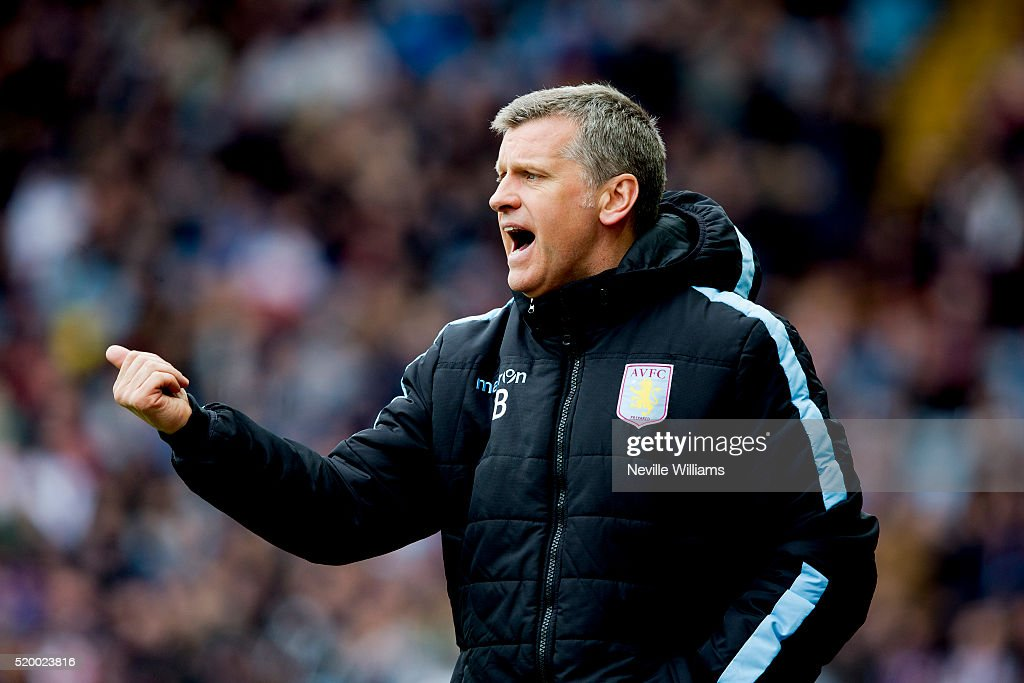Eric Black acting manager of Aston Villa during the Barclays Premier League match between Aston Villa and A.F.C. Bournemouth at Villa Park on April 09, 2016 in Birmingham, England.