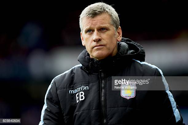 Eric Black acting manager of Aston Villa during the Barclays Premier League match between Aston Villa v Southampton at Villa Park on April 23 2016 in...
