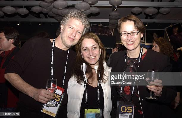 Eric Black Caroline Zabresko and Frauke Sandig during 2005 Sundance Film Festival Alfred P Sloan Foundation Reception at Kimball Arts Center in Park...