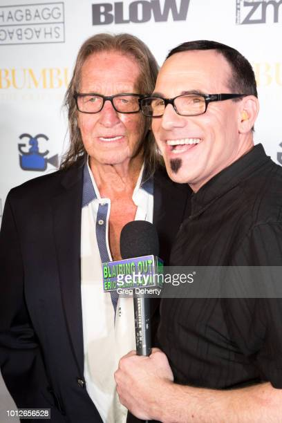 Eric Blair interviews George Jung at George Jung's Birthday Celebration And Screening Of Blow at TCL Chinese 6 Theatres on August 6 2018 in Hollywood...