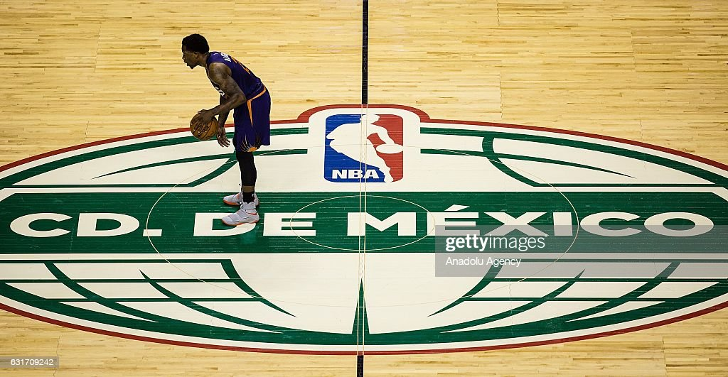 Eric Bledsoe of Phoenix Suns in action during the NBA Game Mexico City between Phoenix Suns and San Antonio Spurs at Arena Ciudad de Mexico, in Mexico City, Mexico on January 14, 2017.