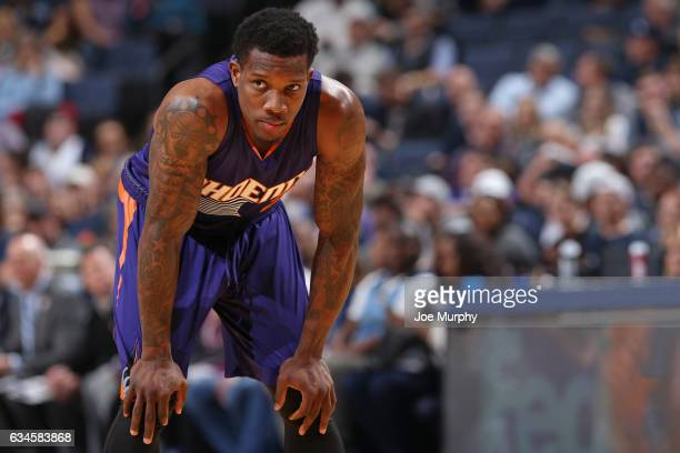 Eric Bledsoe of the Phoenix Suns looks on during the game against the Memphis Grizzlies on February 8 2017 at FedExForum in Memphis Tennessee NOTE TO...