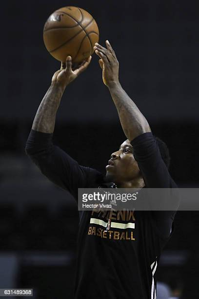 Eric Bledsoe shots the ball during the Phoenix Suns training session at Arena Ciudad de Mexico on January 11, 2017 in Mexico City, Mexico.