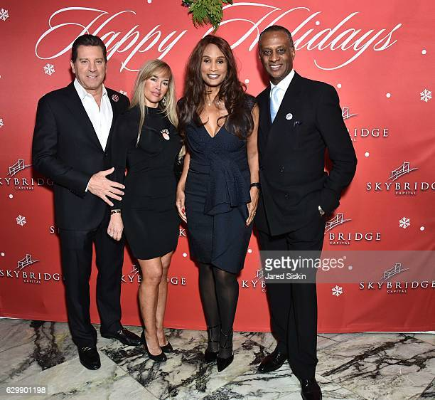 Eric Bolling Adrienne Bolling Beverly Johnson and Bryan Maillian attend SkyBridge Capital Holiday Celebration at Hunt Fish Club on December 14 2016...