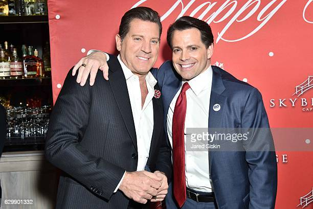 Eric Bolling and Anthony Scaramucci attend SkyBridge Capital Holiday Celebration at Hunt Fish Club on December 14 2016 in New York City