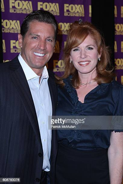 Eric Bolling and Liz Claman attend A Celebration for the Launch of THE FOX BUSINESS NETWORK at Temple of Dendur on October 24 2007 in New York City