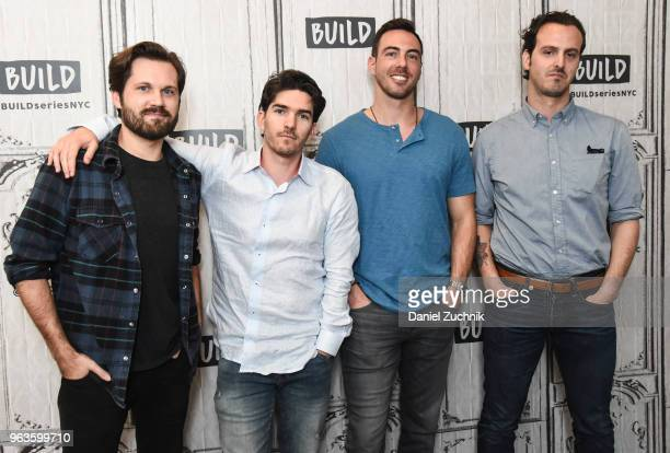 Eric Borsuk Spencer Reinhard Chas Allen and Warren Lipka attend the Build Series to discuss the new film 'American Animals' at Build Studio on May 29...