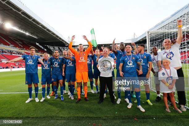 Eric Botteghin of Feyenoord Jordy Clasie of Feyenoord Sofyan Amrabat of Feyenoord Sam Larsson of Feyenoord Justin Bijlow of Feyenoord Calvin Verdonk...