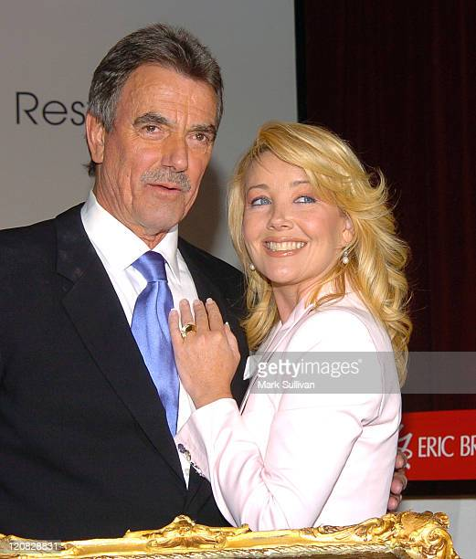 Eric Braeden and Melody Thomas Scott during CBS and The Young and the Restless Celebrate Eric Braeden's 25th Anniversary at CBS Television City in...