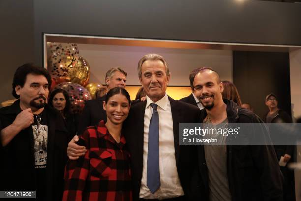 """Eric Braeden Brytni Sarpy and Bryton James at CBS' Young And The Restless"""" Celebrates Eric Braeden's 40th Anniversary at CBS TV City on February 07..."""