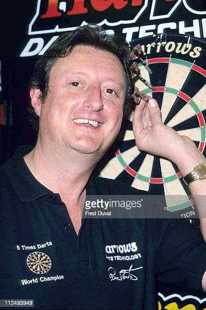 Eric Bristow during Eric Bristow Harrods Sports Department ReLaunch April 1 1999 at Harrods in London Great Britain
