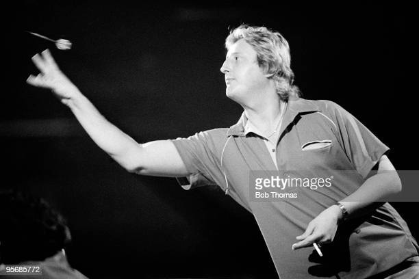 Eric Bristow of England during the Final of the World Professional Darts Championship held at the Jollees Club in StokeonTrent on the 7th January 1984