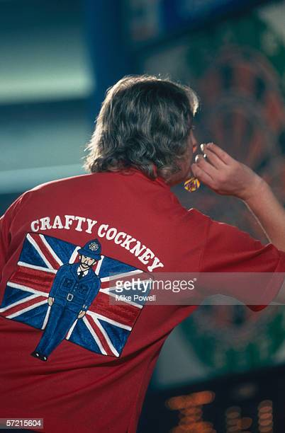 Eric Bristow on his way to winning the World Masters Darts Championships held in 1983 in England