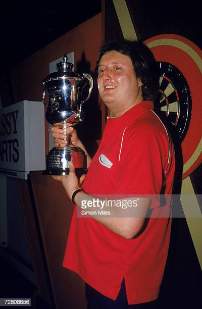 Eric Bristow wins the 1986 Embassy World Darts Championship at Lakeside Country Club Frimley Green Surrey 11th January 1986