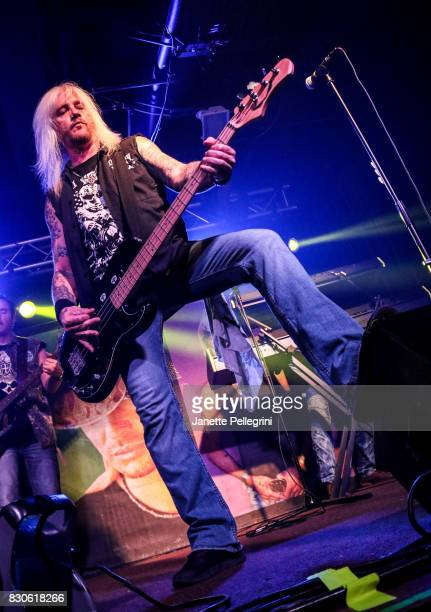 Eric Brittingham performs in concert with Bret Michaels on August 11 2017 at Mulcahy's Pub and Concert Hall in Wantagh New York