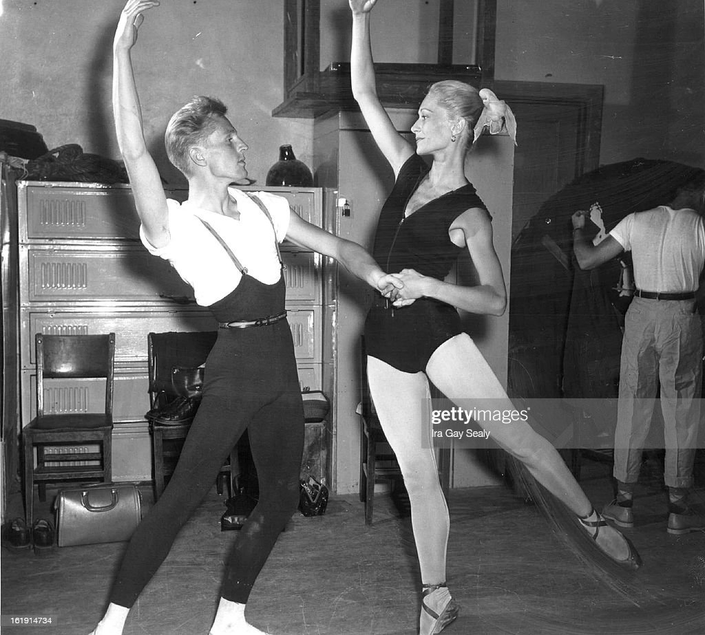 JUL 24 1952, 7-26-1952; Eric Bruhn, Paula Lloyd; Flew here from Copehayen, for this performance will : News Photo