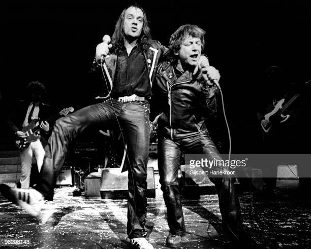 Eric Burdon and Udo Lindenberg perform live on stage in Germany in 1975