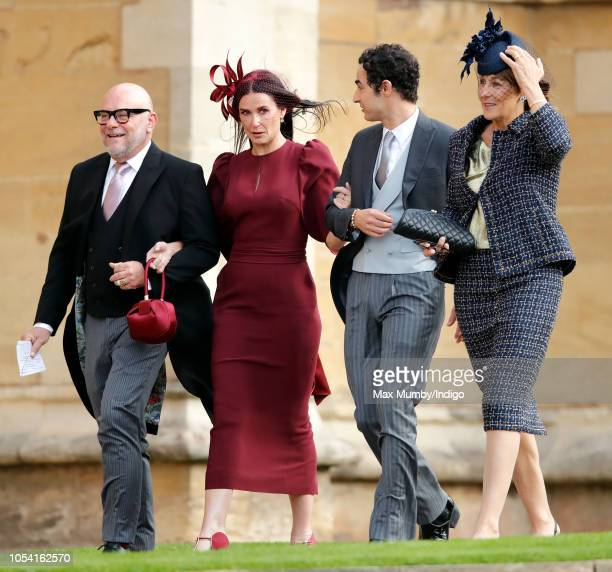Eric Buterbaugh Demi Moore and Zac Posen attend the wedding of Princess Eugenie of York and Jack Brooksbank at St George's Chapel on October 12 2018...