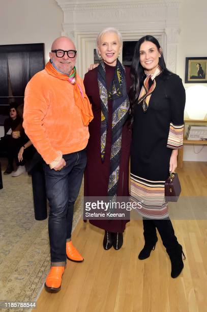 Eric Buterbaugh Maye Musk and Demi Moore attend Fashion In La Book Launch Celebration at Private Residence on November 05 2019 in Beverly Hills...