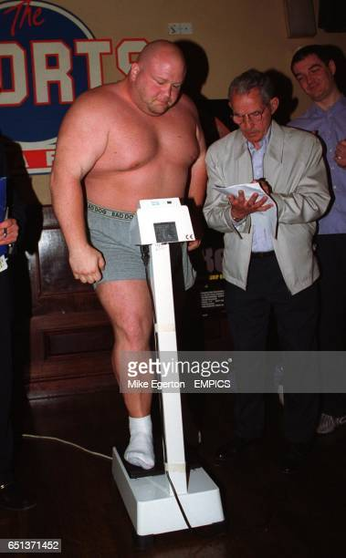 Eric 'Butterbean' Esch during the weigh in before his WBF Super Heavyweight fight against Shane Woollas