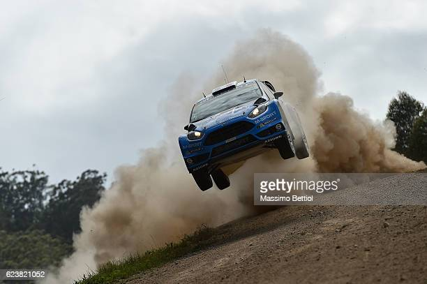 Eric Camilli of France and Benjamin Veillas of France compete in their MSport WRT Ford Fiesta RS WRC during the Shakedown of the WRC Australia on...