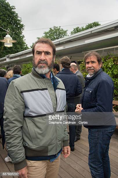 Eric Cantona and his brother JeanMarie Cantona attend day thirteen of the 2016 French Openat Roland Garros on June 3 2016 in Paris France