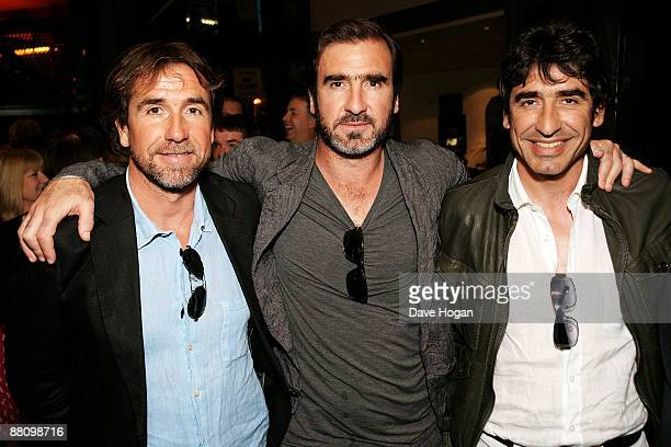 Eric Cantona and his brothers JeanMarie Cantona and Joel Cantona attend the UK premiere afterparty of 'Looking for Eric' held at The Lowry Salford...