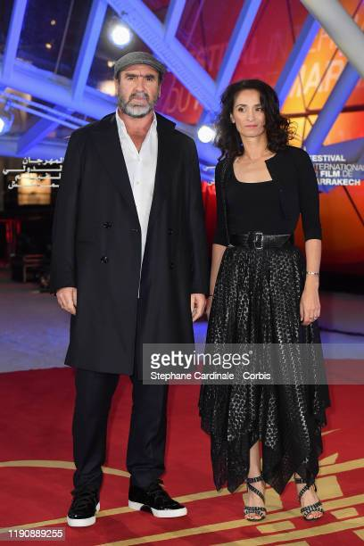 Eric Cantona and Rachida Brakni attend the opening ceremony during the 18th Marrakech International Film Festival on November 29 2019 in Marrakech...