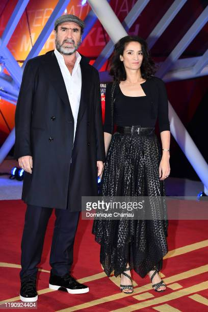 Eric Cantona and Rachida Brakni attends the opening ceremony during the 18th Marrakech International Film Festival on November 29 2019 in Marrakech...